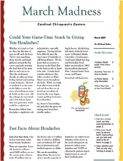Cardinal Chiropractic Newsletter Thumb - March 2007