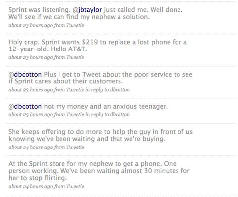 Sprint Tweets from Jason Falls