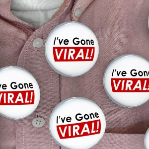 Ive Gone Viral Social Media Buzz Sharing Networking Buttons Pins