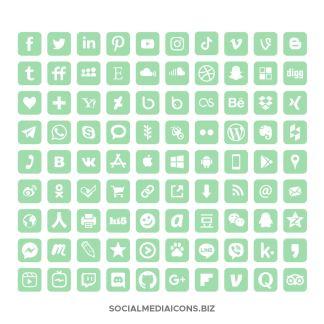 Green Ash Social Media Icons