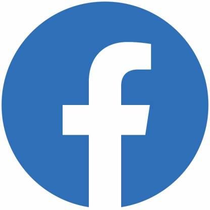 Facebook circle social media icons
