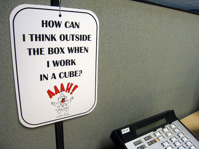 Outside the box, inside a cube
