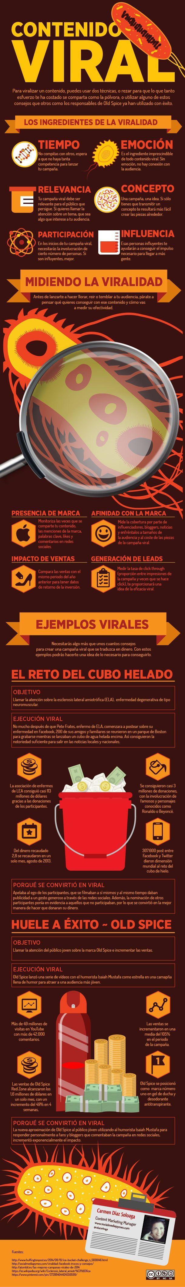 Cómo poner una campaña viral en medios sociales. Análisis en infografía.