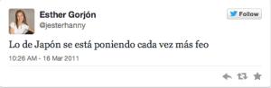 Esther Gorjon 1 tweet