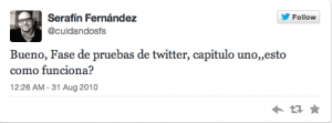 Serafín Fernández 1 Tweet