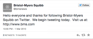 Bristol Myers 1 tweet