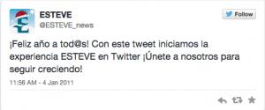 ESTEVE 1 Tweet