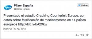 Pfizer Spain 1 twwet