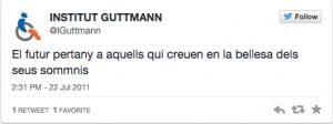 Institut Gutmann primer tweet