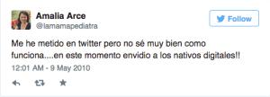 1 Tweet Amalia Arce