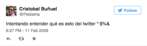 1 Tweet Cristobal Buñuel