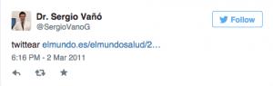 1 Tweet Sergio Vano