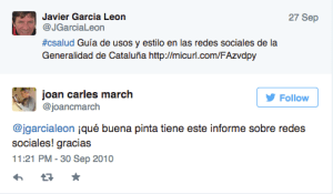 1 tweet Joan C March