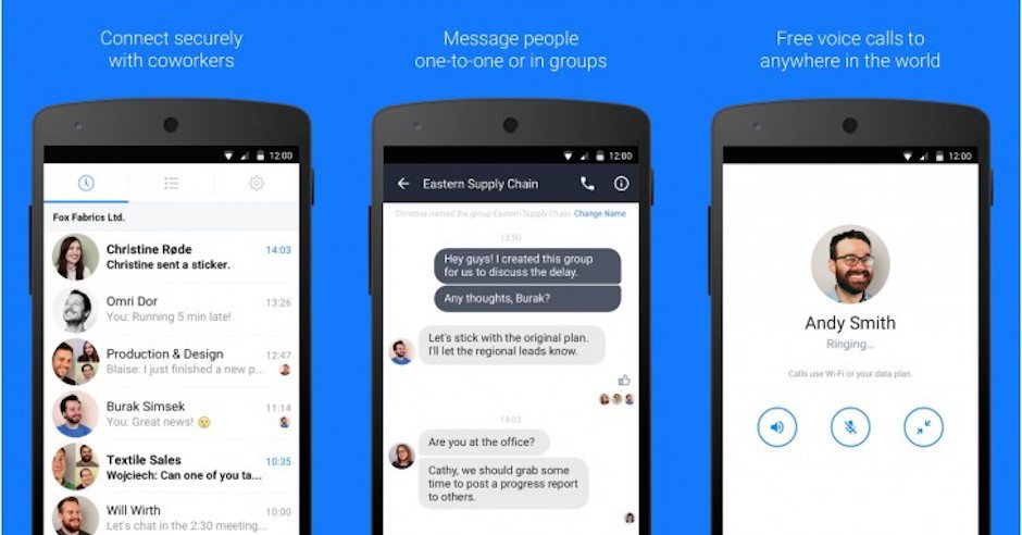 """Work Chat"" is Facebook's New Messaging App for ""Facebook at Work"" Users"