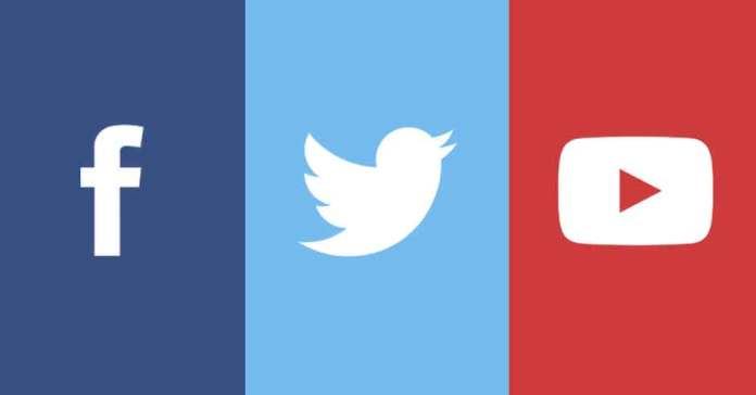 Facebook Twitter And Youtube