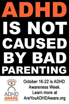 ADHD is not a bad Parenting