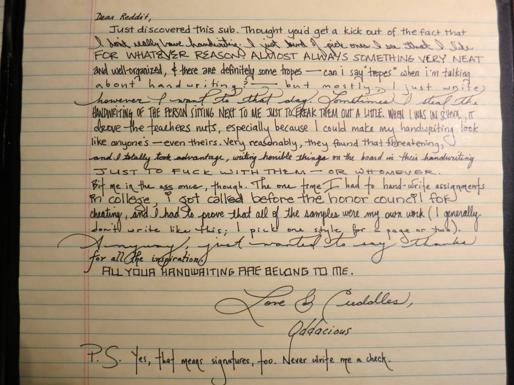 Penmanship One Person S Handwriting Stuns The Internet