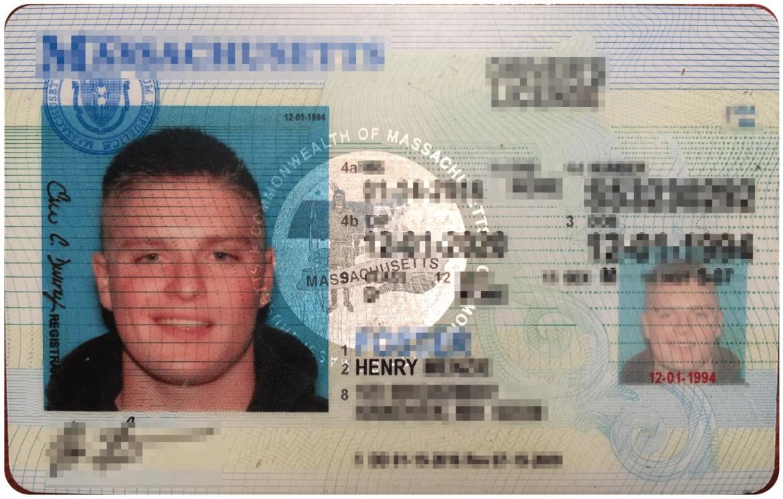 Blurred license