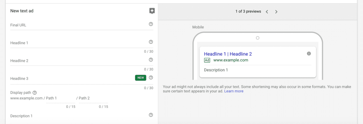 Ad Preview Google Adwords