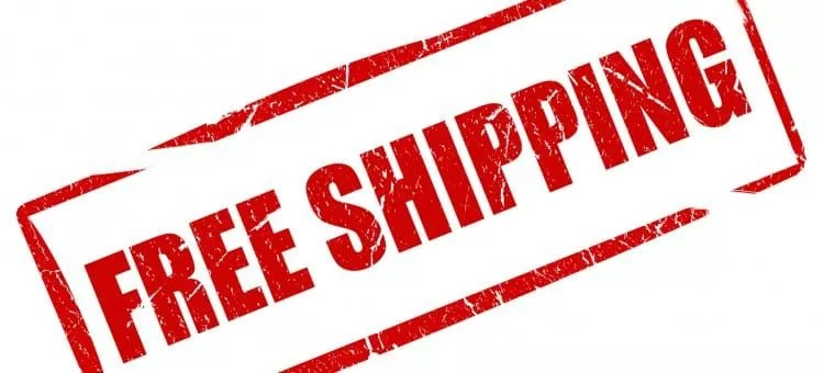 Free shipping closes more customers.