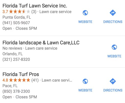 Google My Business Low Ratings