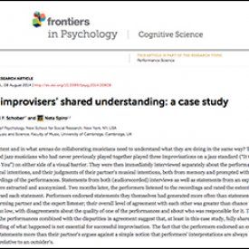 Michael Schober et al. (2014) – Jazz improvisers' shared understanding: A case study