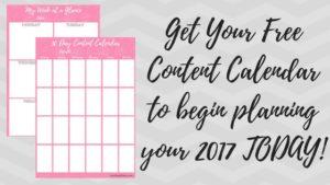 Get Your Free Content Calendar