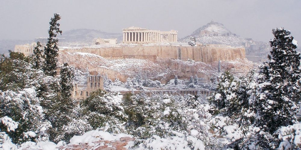 Image result for greece in the winter