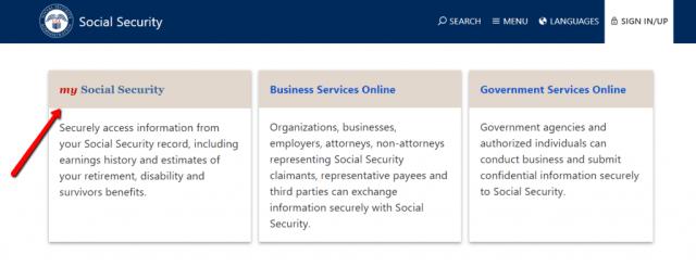 """Login to social security website"""