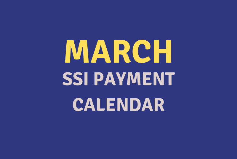 """""""March 2020 SSI Payment Schedule"""""""
