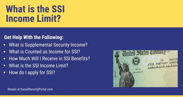 """""""SSI Income Limits"""""""