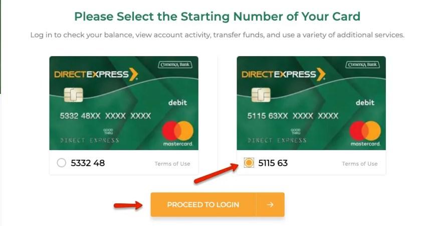 """""""Direct express password reset"""""""