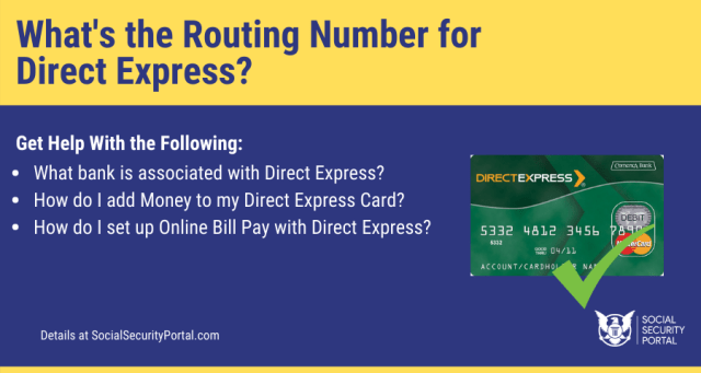 """""""Routing Number for Direct Express"""""""