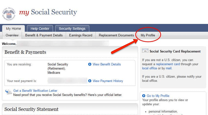 """social security change of address help"""