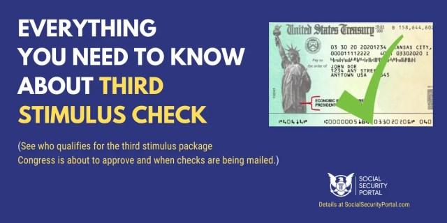"""""""Third Stimulus Check FAQs"""""""