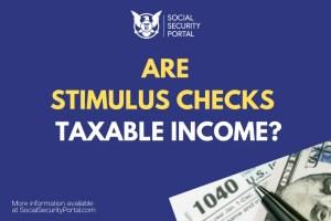 """""""Are Stimulus Checks Taxable Income"""""""