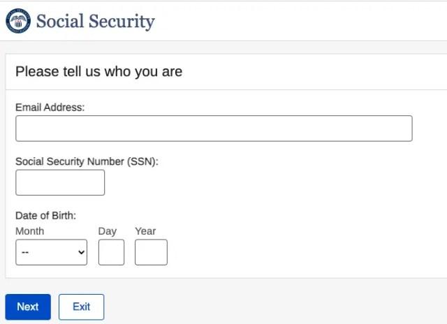 """SSA.gov forgot username 2"""
