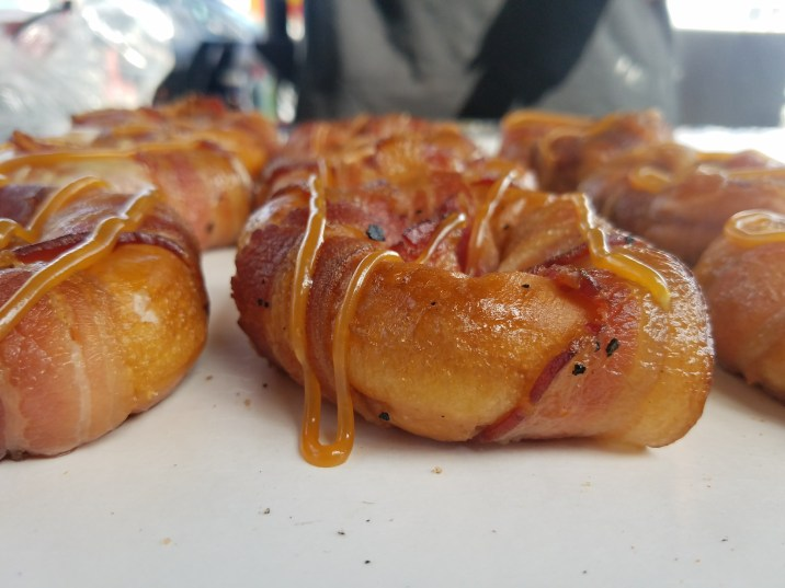 Smoked Bacon Wrapped Glazed Doughnut