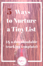 5 Ways to Nurture a Tiny List socialstephanie.com