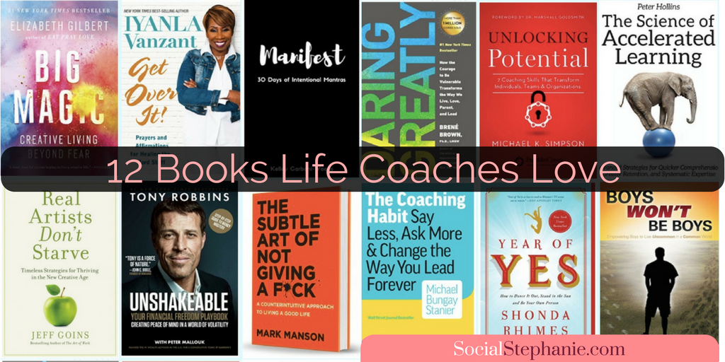 12 Books Life Coaches Love socialstephanie.com/coachingbooks