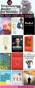 12 Books Life Coaches Love. Tips on empowering books to read. socialstephanie.com/coachingbooks