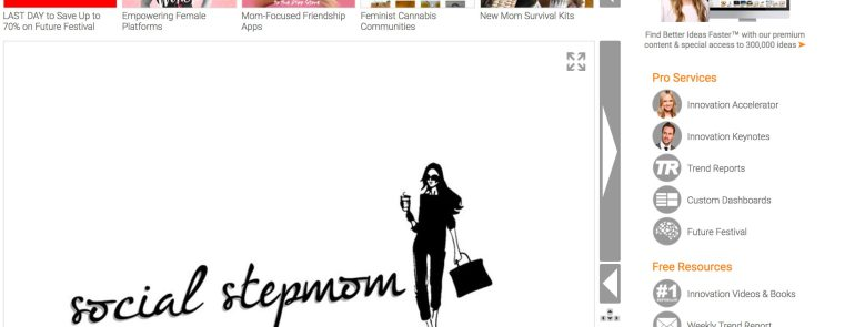 Social Stepmom featured on TrendHunter