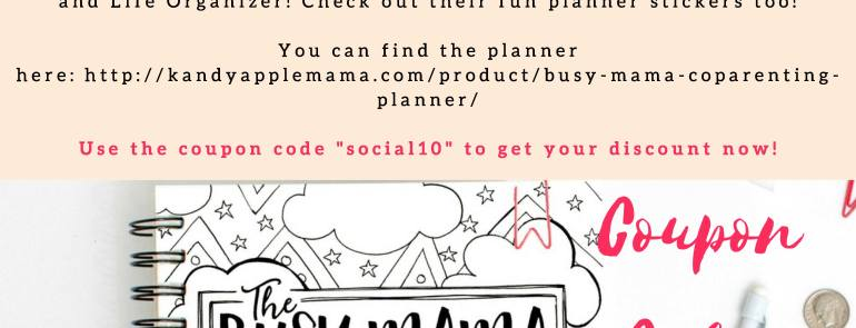 The Busy Mama Planner: Co-Parenting Edition! by Kandy Apple Mama