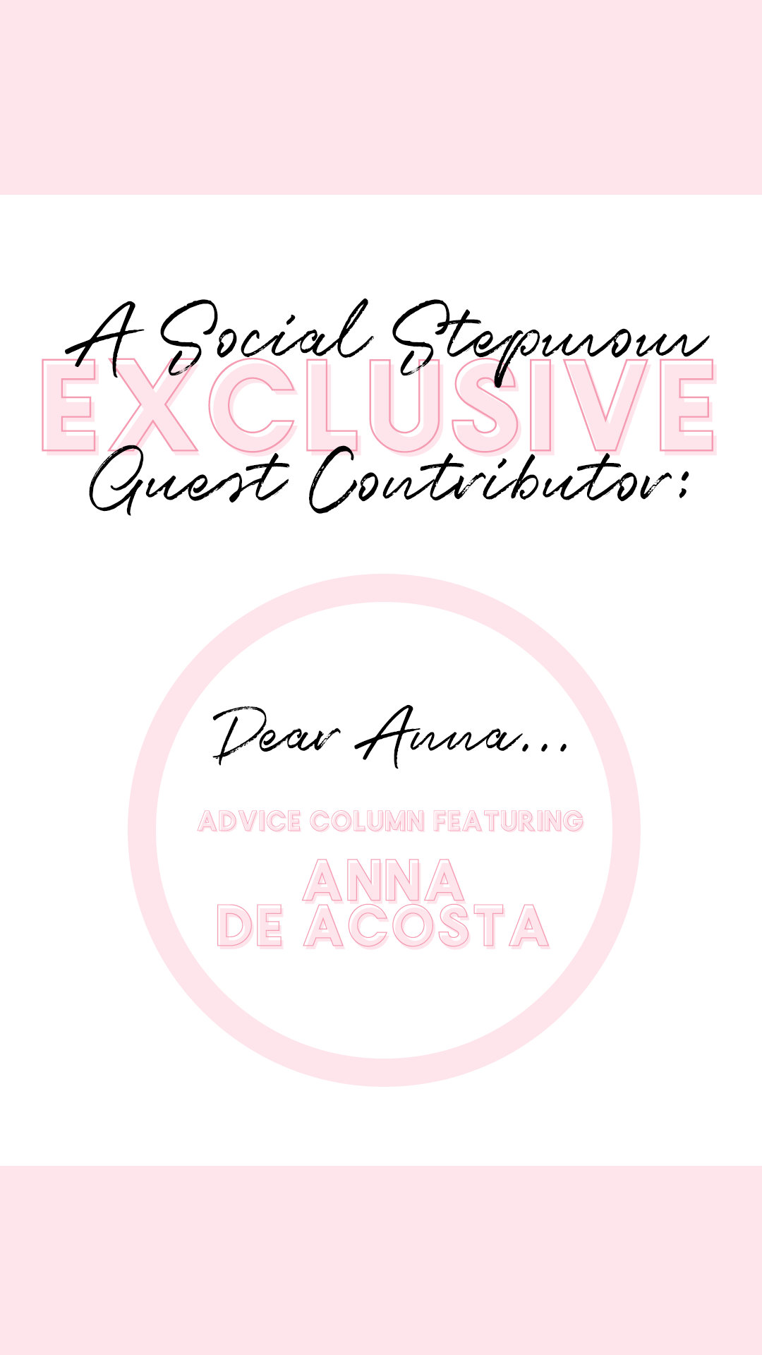 'Dear Anna…' Our Monthly Advice Column!