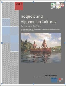 Iroquois and Algonquian Cultures Lesson Plan