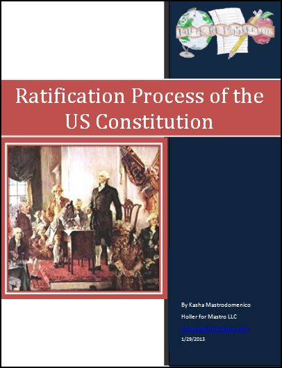 Ratification Process of the US Constitution lesson plan