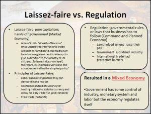 Laissez-faire vs. Regulation Differentiated Instruction PowerPoint