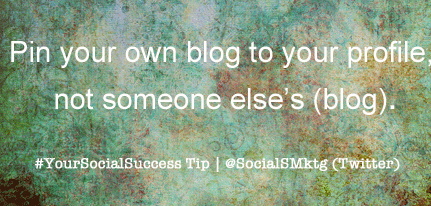 Twitter Tip: Pin Your Tweet