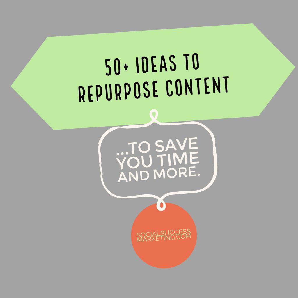 social media graphics repurpose contents