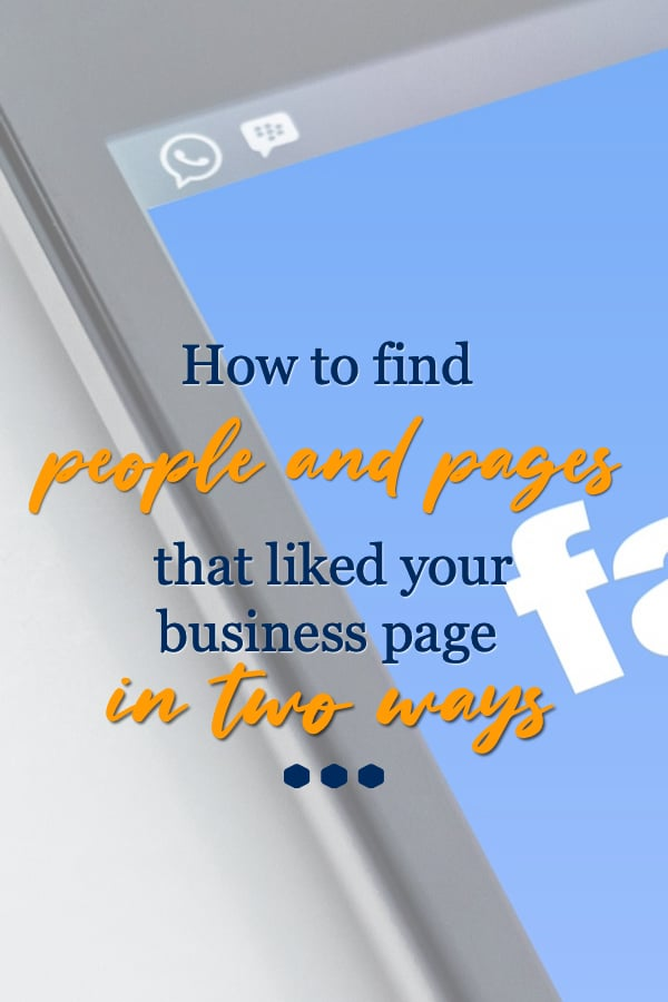 find pages that liked and follow your page tips